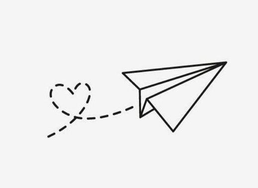 aesthetic paper airplane minimalist