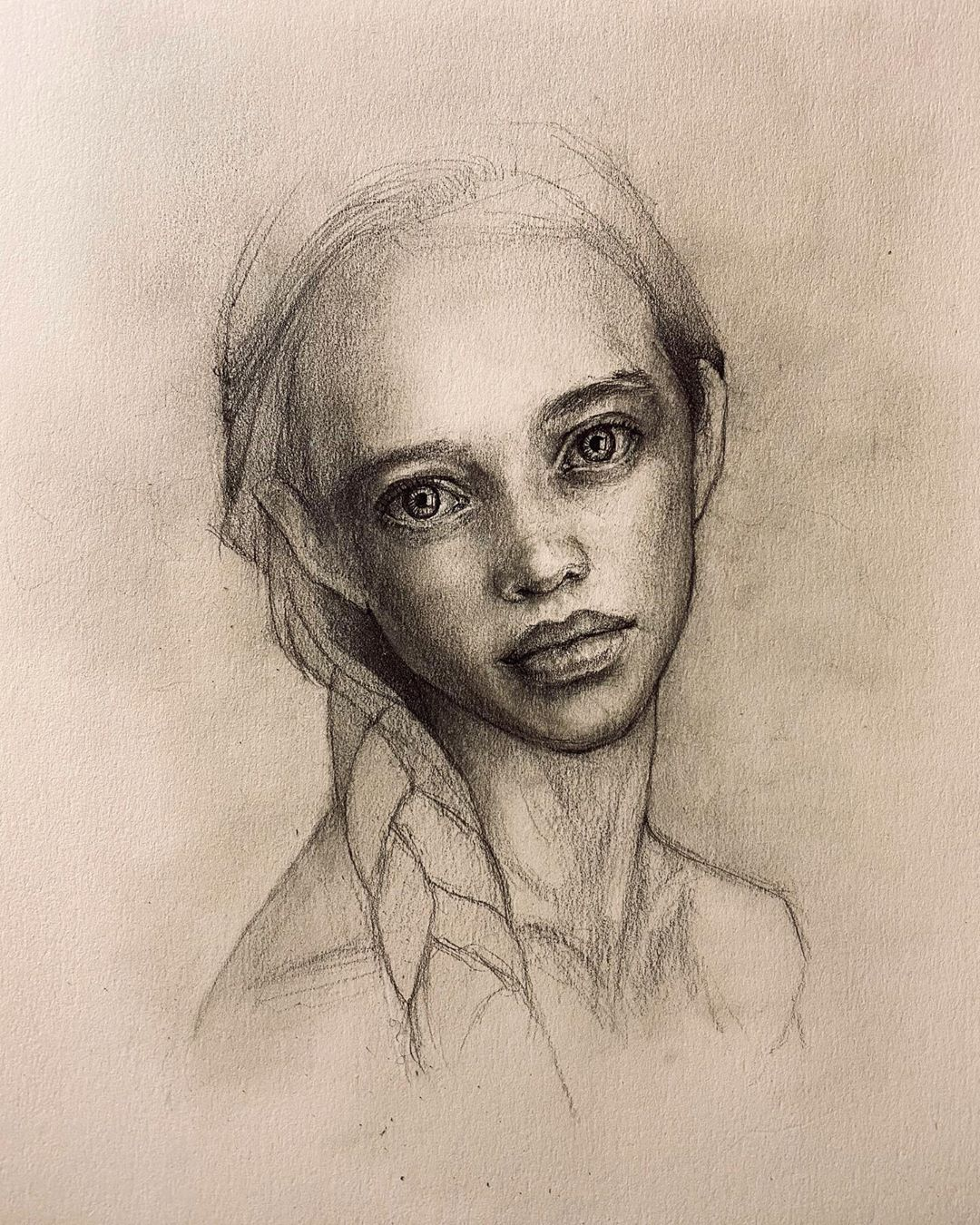 Easy girl portrait drawing