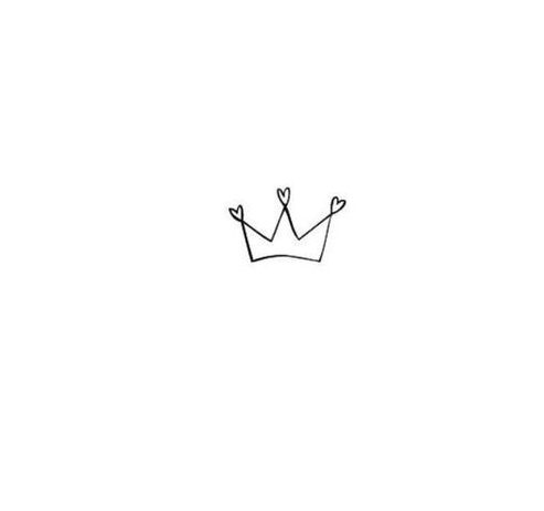 simple aesthetic crown drawing