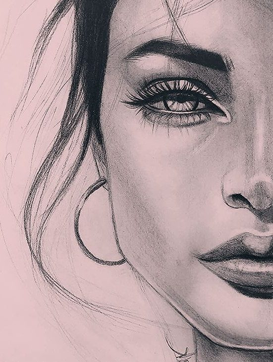 Beautiful pencil art girl face