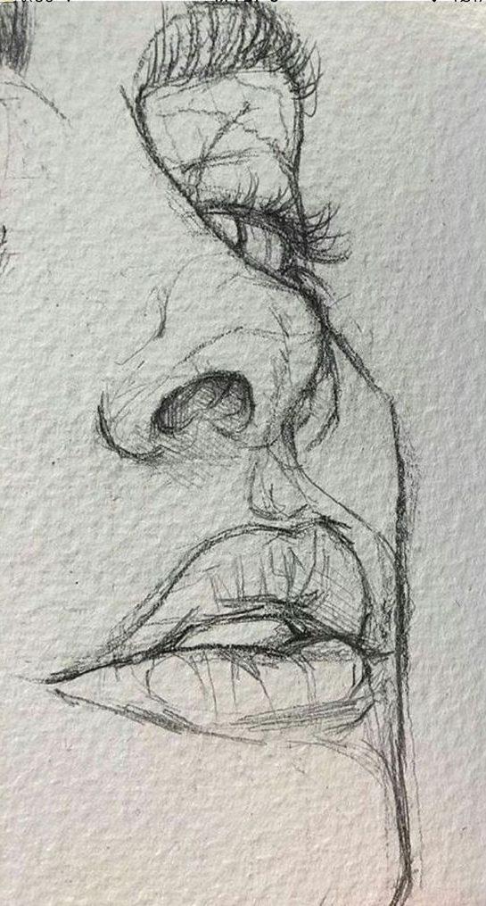Woman beautiful pencil sketch