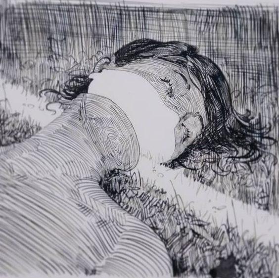Woman easy pencil sketch drawing