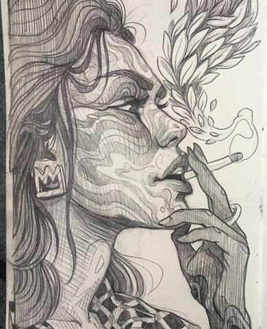 Women pencil drawing