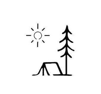 camping tattoo symbols