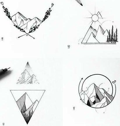hiking tattoo symbols