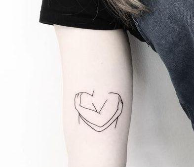 small tattoo love symbols simple