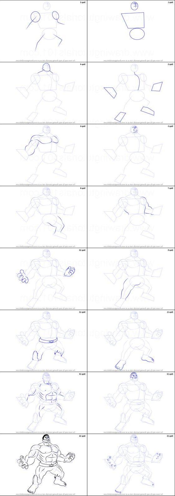 angry hulk drawing