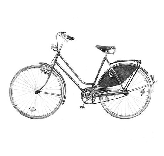 art realistic bicycle drawing