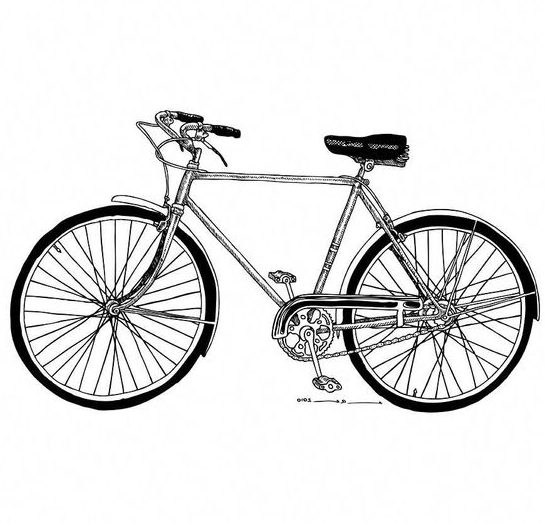 bike drawing pictures