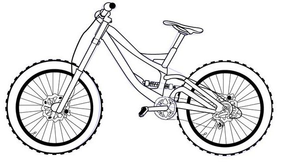 cartoon how to draw a bicycle