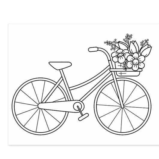 cute bicycle drawing