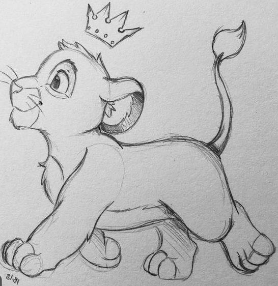 cute lion drawing easy