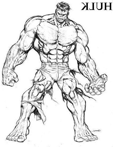 easy hulk drawing