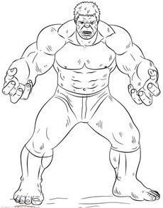 easy hulk pencil drawing