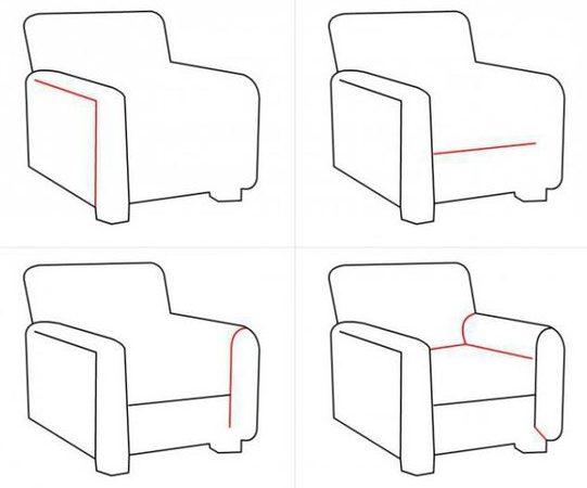 easy sofa set drawing