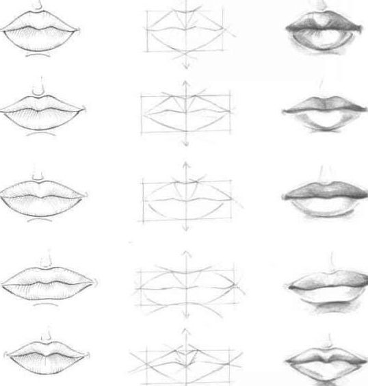 easy step by step easy how to draw lips