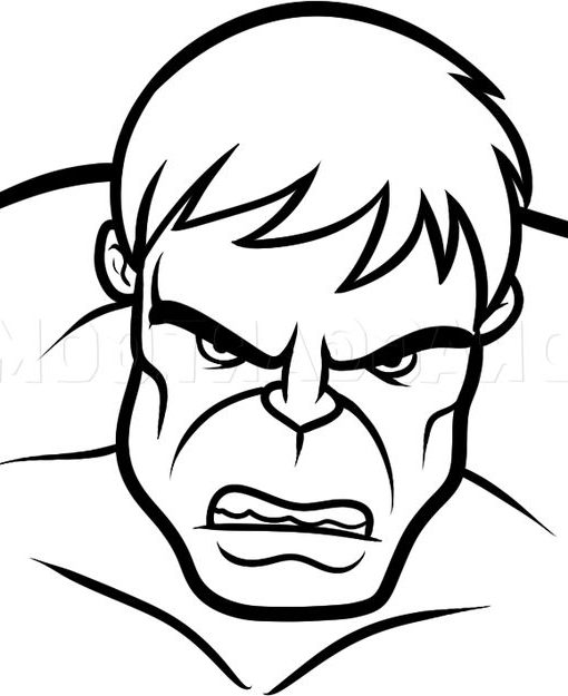 face hulk drawing easy