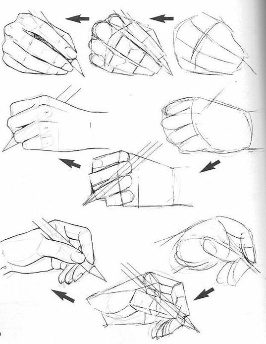 hand poses how to draw a hand