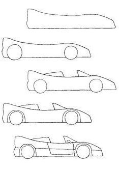 how to draw a car step by step for kids