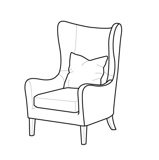 how to draw a couch side view