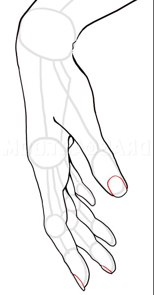 how to draw hands step by step anime