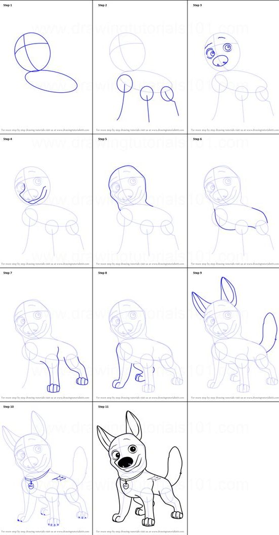 ideas drawing dog step by easy