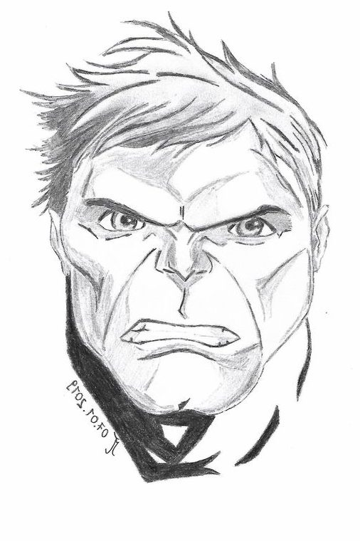 incredible hulk hulk drawing e