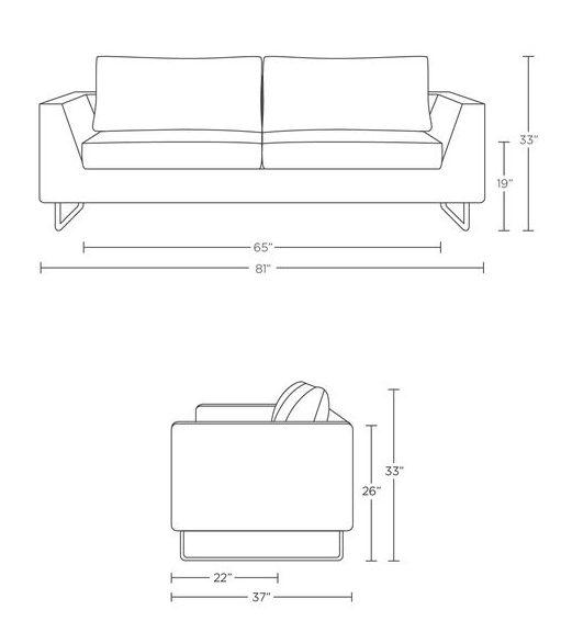 living room furniture standard sofa dimensions
