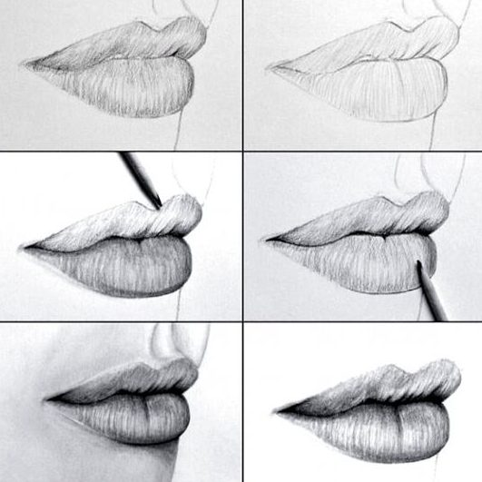 Mouth how to draw lips