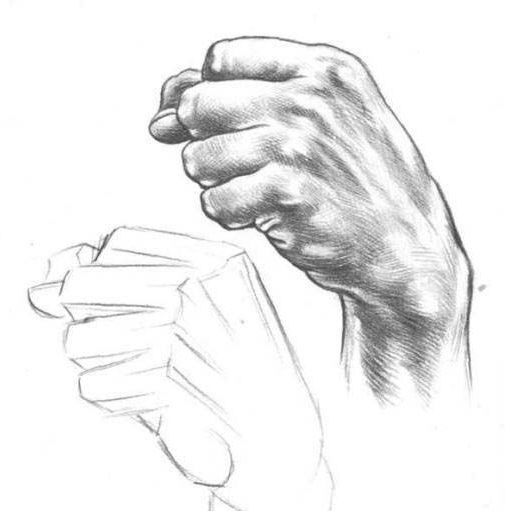 pencil hold hand drawing