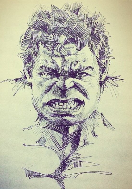 pencil hulk draw