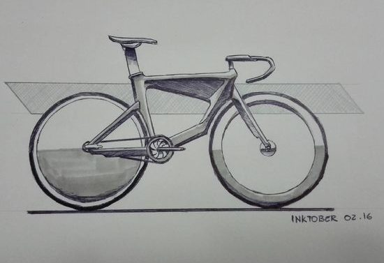 pencil realistic bicycle drawing