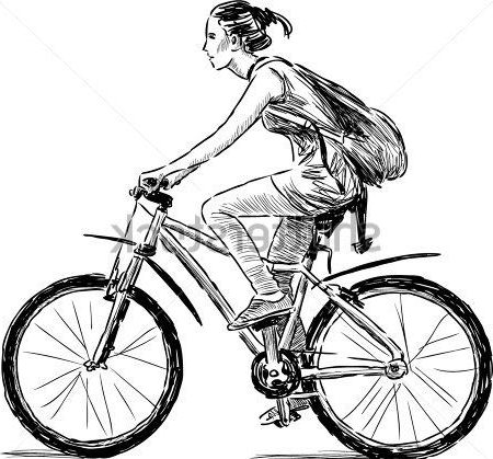 perspective realistic bicycle drawing