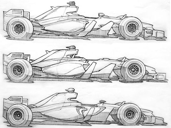 race car how to draw a car step by step