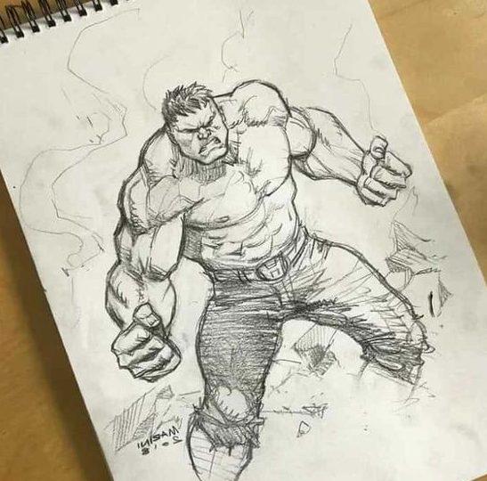 reailistic hulk draw
