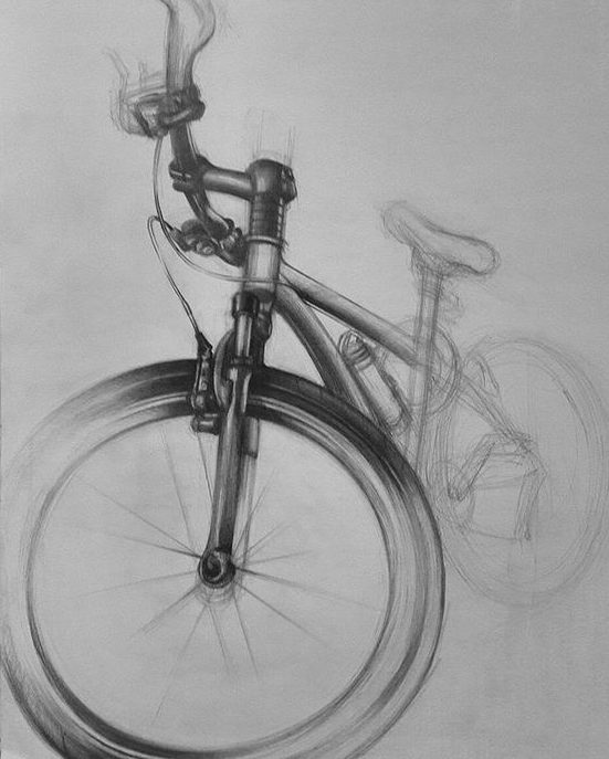 realistic bicycle drawing