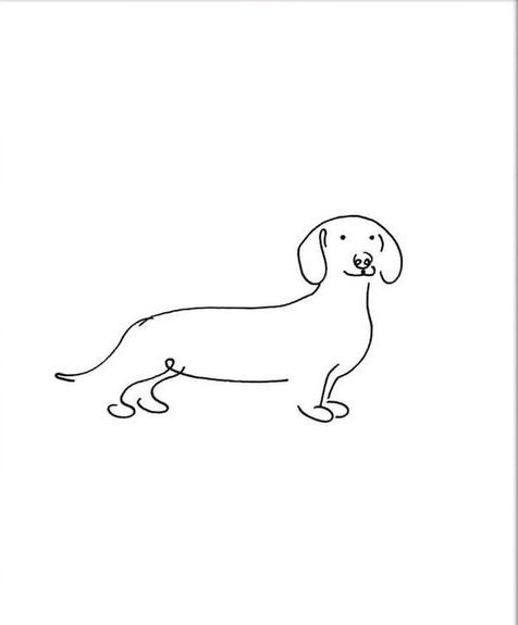 sausage drawing dog step by easy