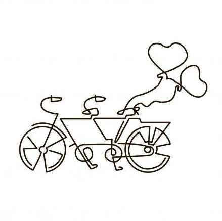 simple how to draw a bike