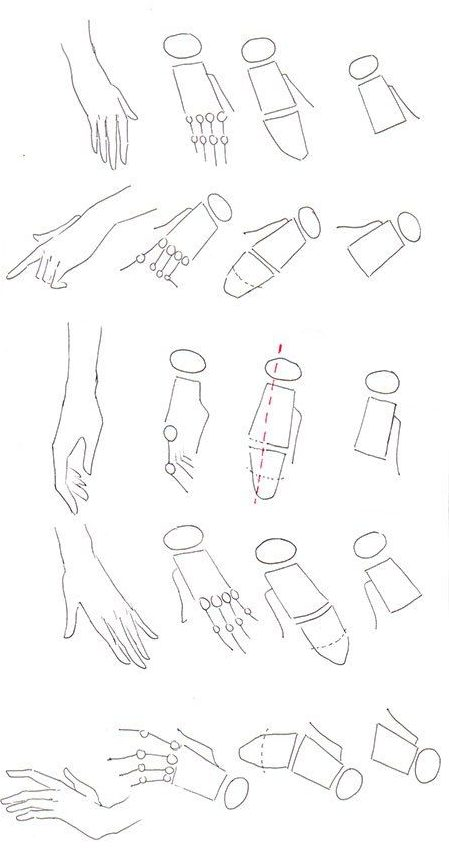 sketch how to draw a hand
