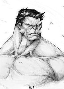 sketch how to draw hulk