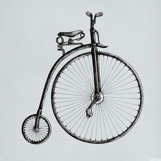 sketch realistic bicycle drawing
