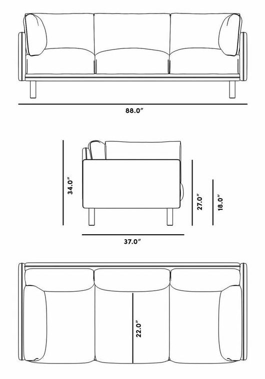 standard single sofa dimensions