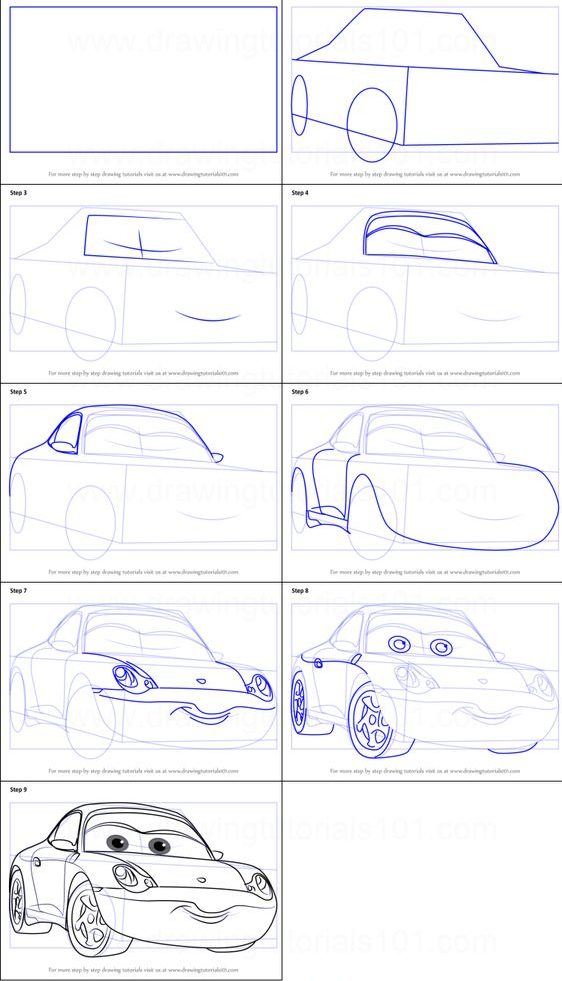 step by step easy step by step how to draw a car