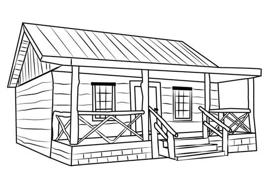 step how to draw a house