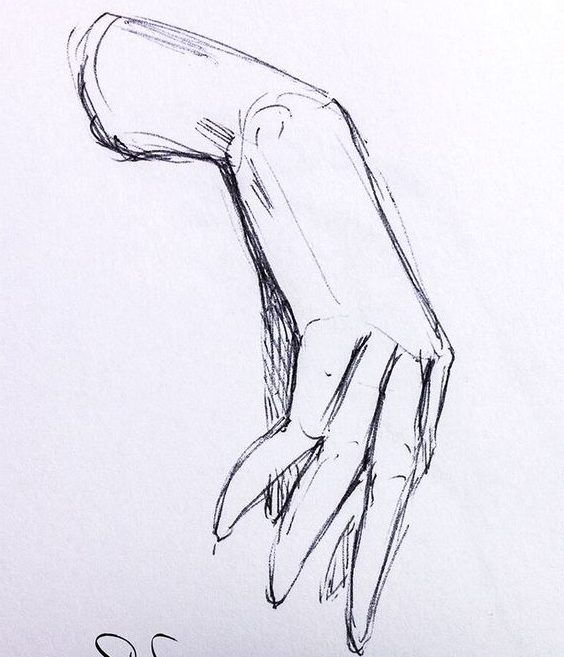 step how to draw realistic hands