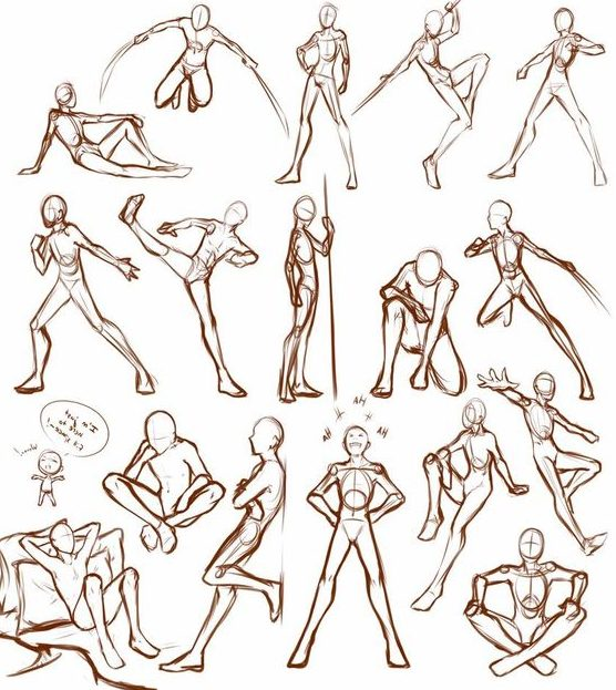 Action drawing poses