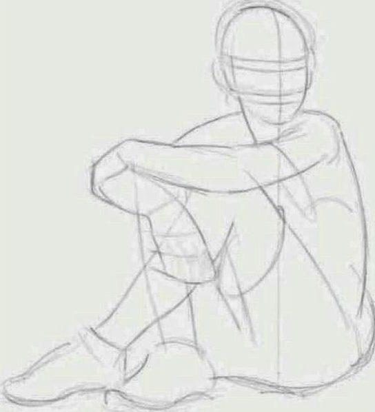 Sitting drawing poses