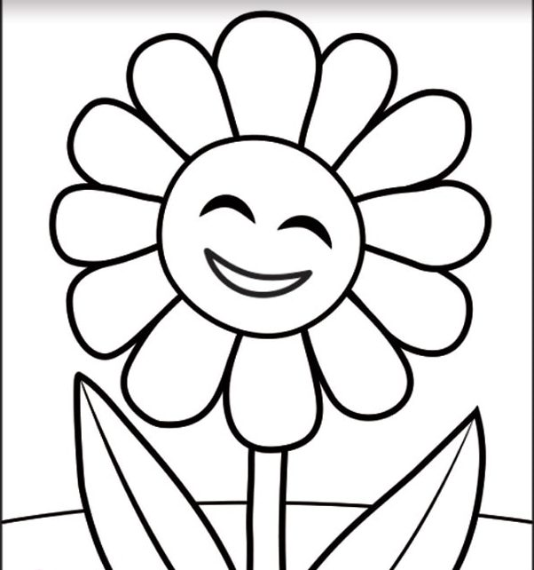 Flower drawing for kids